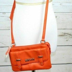 Kenneth Cole Reaction Orange Cross Body Bag